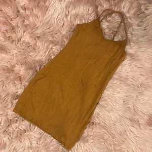 Pumpkin-ish colored mini dress, stretchy, S, thick